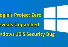 Windows 10 S Security bug