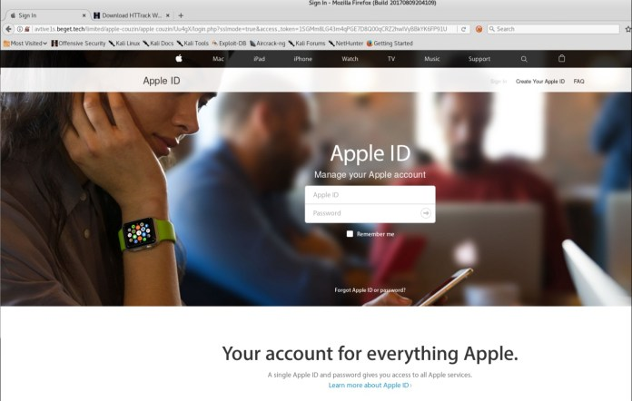 Apple Phishing Scam