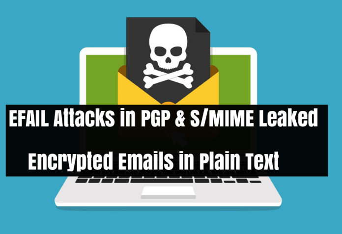 EFail Attacks  - EFAIL Attacks - EFAIL Attacks – PGP & S/MIME Flaw Leaked Encrypted Email in Plain Text