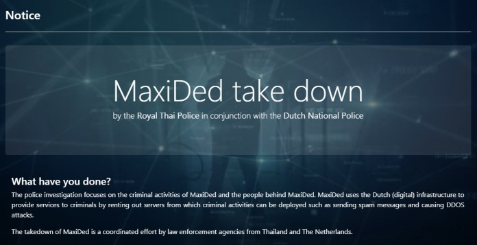 MaxiDed takedown  - MaxiDed takedown1 - MaxiDed takedown by Law Enforcement Agencies