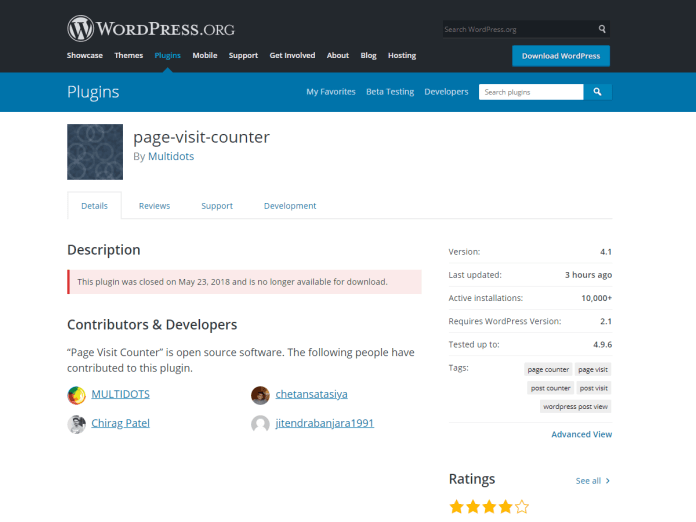 ten Vulnerable WordPress Plugins  - closed wordpress plugins multidots - Ten WordPress Plugins Expose E-commerce store for attacks
