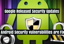 Google Released Security Updates