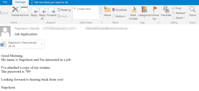 AZORult  - Email - AZORult Malware Spreading Via Office Documents Steals Credentials
