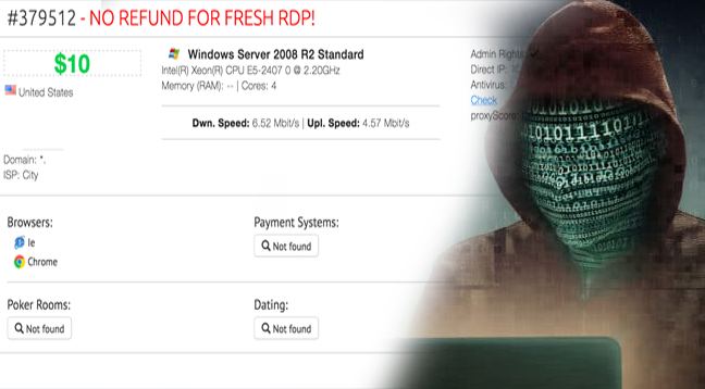 RDP Shops - Hackers Selling Airport Security System Credentials