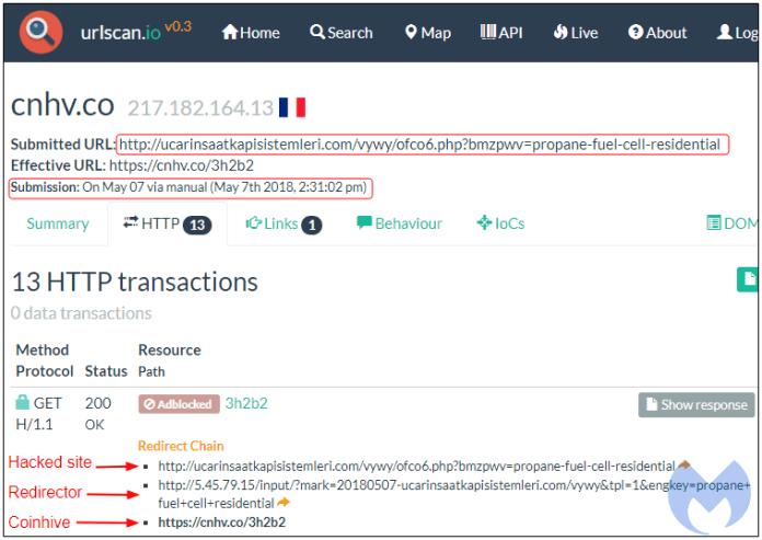 - cn - Hackers Performing Massive Crypto-Mining Operation Via Hacked Website