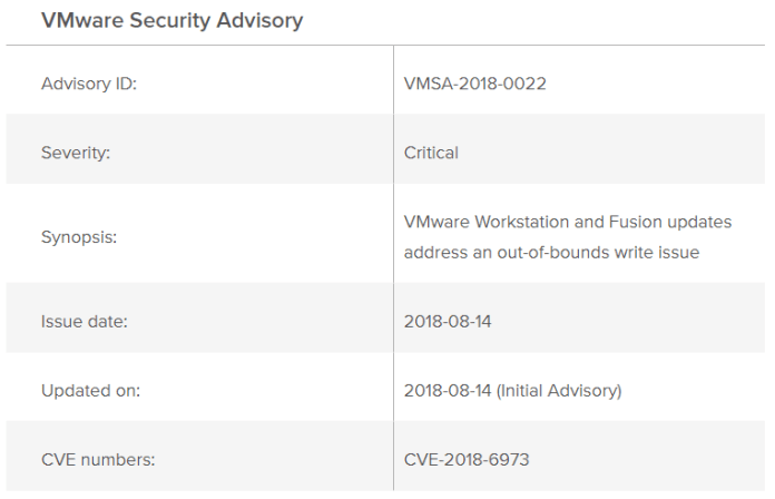 VMware Security Updates  - Vm3 - VMware Security patches for Multiple Vulnerabilities Including L1 Terminal Fault