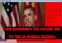 ransomware encrypts exe