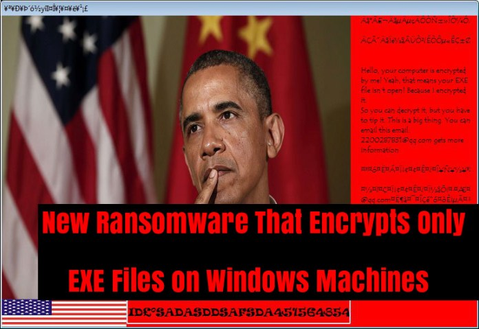ransomware encrypts exe  - m3P9G1535981197 - New Ransomware That Encrypts Only EXE Files on Windows Machines