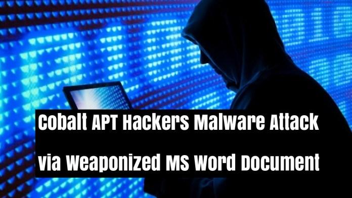 - pjT3J1535881565 - Cobalt APT Hackers Attack Financial Organizations using Malware
