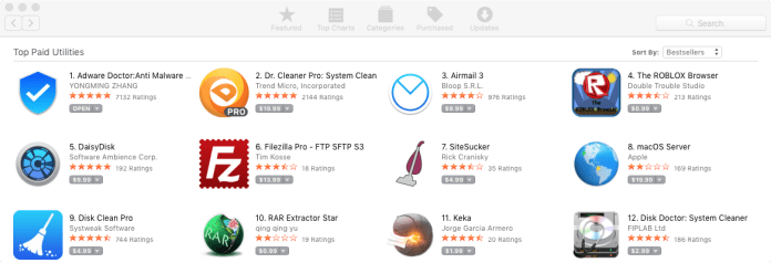 """- top paid - #1 Adware Removal Mac Store App """"Adware Doctor"""" Stealing User Data"""