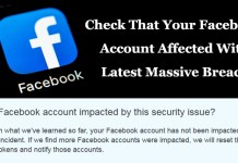 Facebook Account Affected