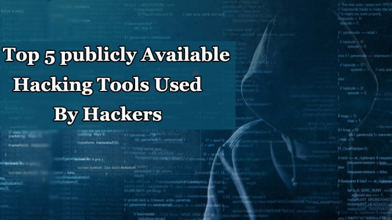 These are the Top 5 Publicly Available Hacking Tools Mostly
