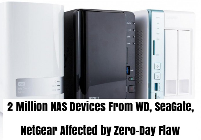 NAS  - NAS - 2 Million Network Storage Devices( NAS ) Affected by Zero-Day Flaw