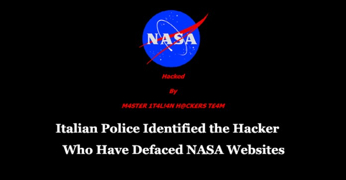 NASA  - NASA - Italian Police Identified Italian Hacker who have Defaced NASA Websites