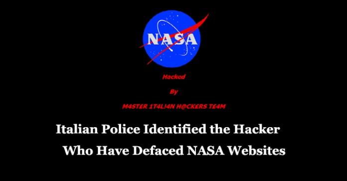 NASA  - NASA - Italian Police Identified Italian Hacker who have Defaced NASA Websites