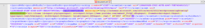 - iframe - Microoft Word Online Video Feature Allow Attacker to Deliver Malware