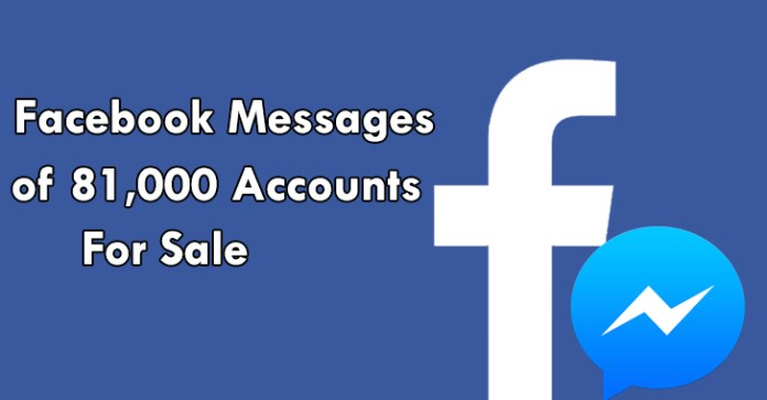 81,000 Facebook  - 81000 Facebook - Private Messages of 81,000 Facebook Advertised for Sale