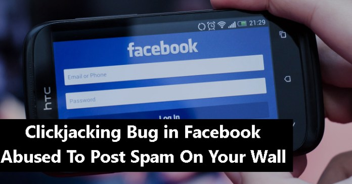 Clickjacking  - Facebook wall - Clickjacking Bug in Facebook Being Abused By Attackers
