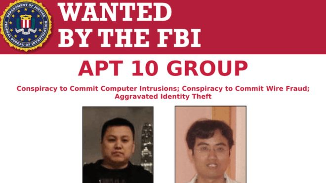 APT 10 Hacking Group  - fbi - Chinese APT 10 Hacking Group Charged for a Cyber Attack on NASA