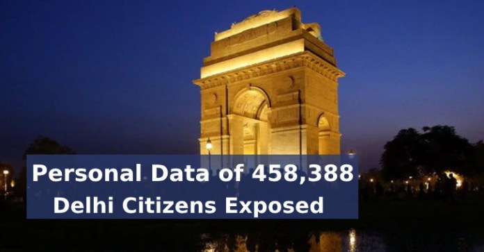 Delhi  - Delhi - Personal Data of 458,388 Delhi Citizens Exposed Online