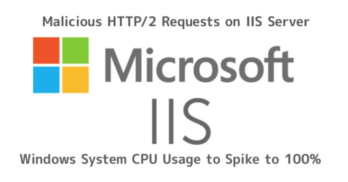 IIS  - HTTP2 - Malicious HTTP/2 Requests on IIS Server Cause The System CPU Usage to Spike to 100%
