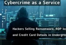 Cybercrime as a Service