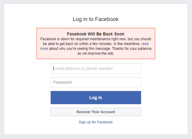 - fb - Facebook Down for Billions of Users Around the World