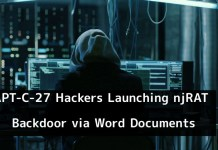 njRAT Backdoor