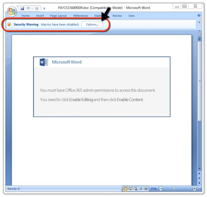 - sec - Hackers Launching Weaponized Word Document to Push Emotet