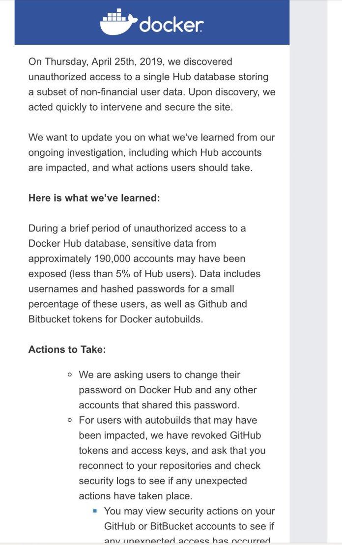 - Docker Hub Hacked1 - Docker Hub Hacked – Hackers Gained Access to 190,000 Users Accounts