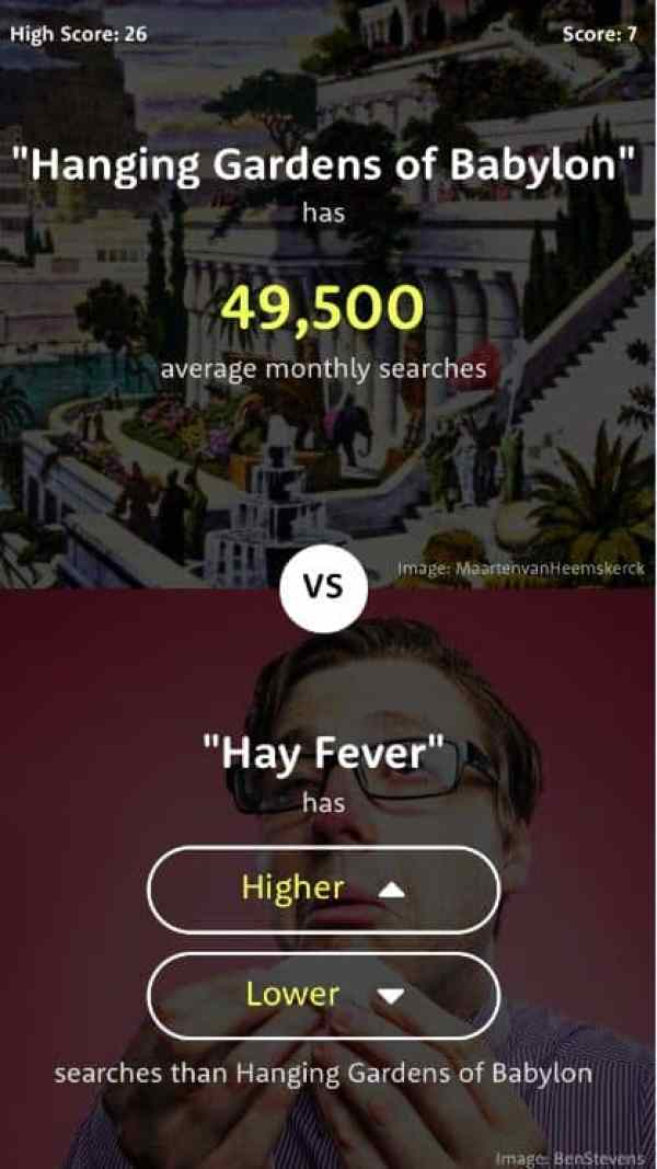 Game Review: The Higher Lower Game (Mobile - Free to Play ...