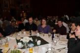 At the banquet, at Gushue Hall.