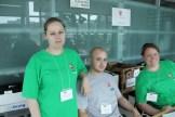 Volunteering at registration.