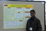 Kiran at his poster.