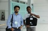 Kiran and Gopi at registration.