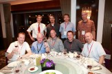 A table at the invited speaker dinner.