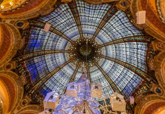 Luxurious glass dome of the department store Galeries Lafayette