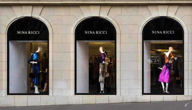 Avenue Montaigne, luxury and fashion avenue Paris France