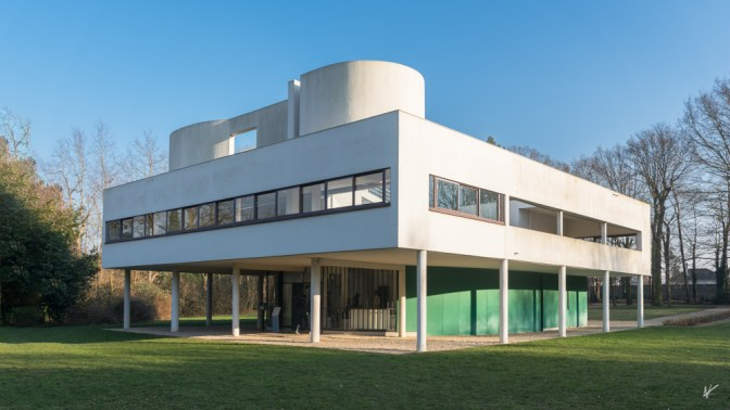 Villa designed by the architect Le Corbusier