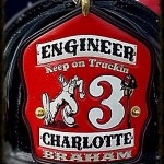 Custom Leather Firefighter helmet shield