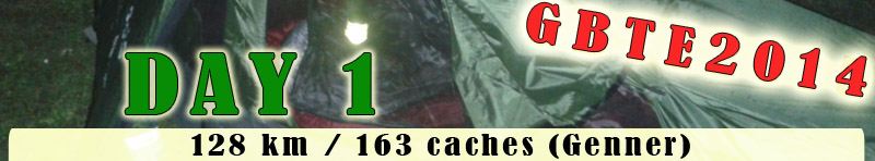 128 km / 163 caches (Genner)
