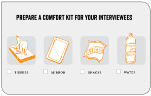 Add a comfort kit to your checklist