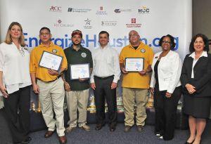 Scholarship award winners and representatives.