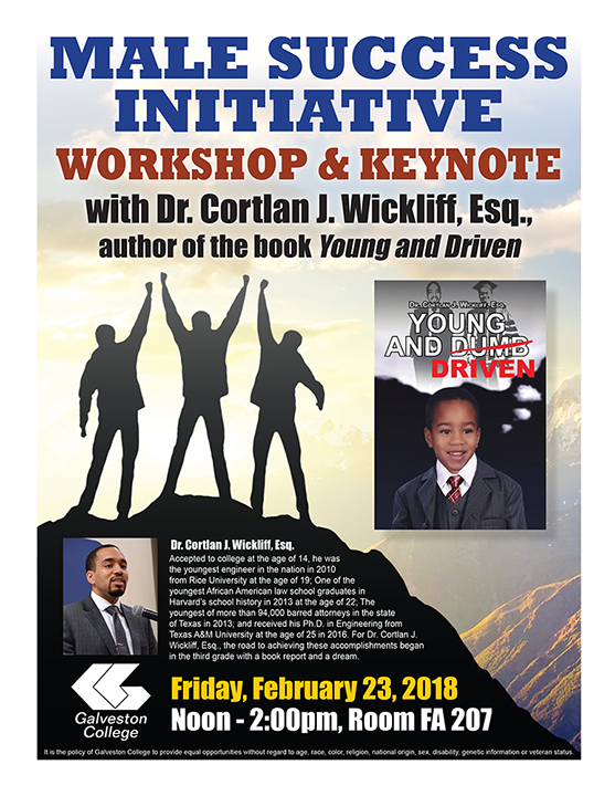 Male Success Initiative Workshop with Dr. Cortlan J. Wickliff