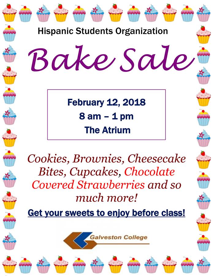 Hispanic Students Organization Bake Sale