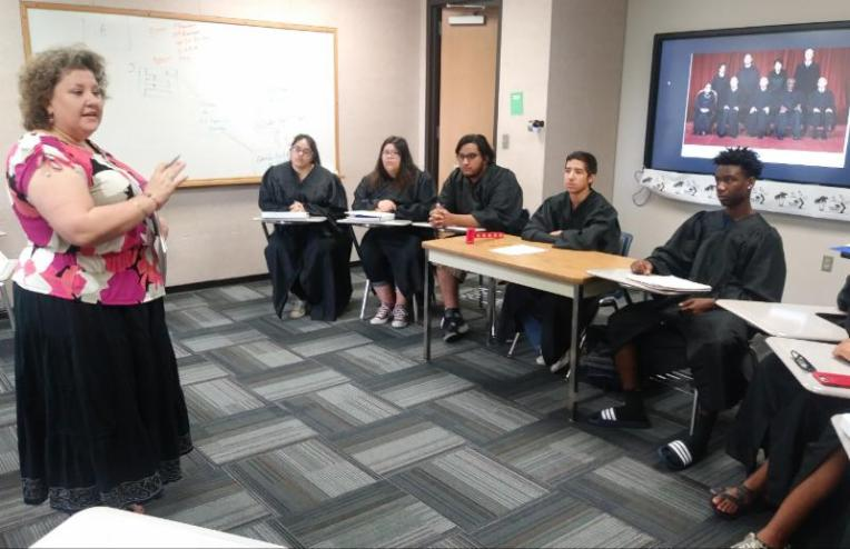 Students in the TRiO Upward Bound program at Galveston College on July 3 conducted a U.S. Supreme Court mock trial of the actual and recent case of Masterpiece Cakeshop v. the Colorado Civil Rights Commission.