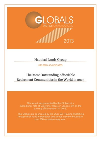 Global Awards Nautical Lands Group 2013