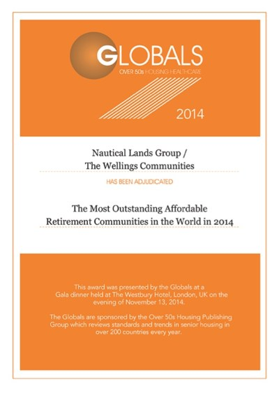 Global Awards The Wellings Community 2014