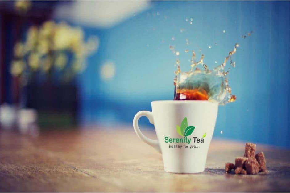 Tea Serenity Tea branding logo