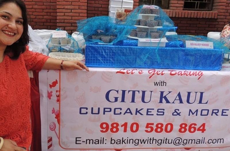 Designing poster, creative, Baking with Gitu, Gitanjali Kaul of The Good Goodies cakes and bakery